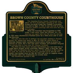 Packers Heritage Trail marker for the Brown County Courthouse.