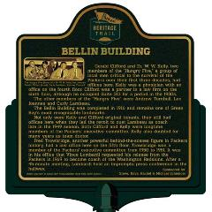 Packers Heritage Trail marker for the Bellin Building.