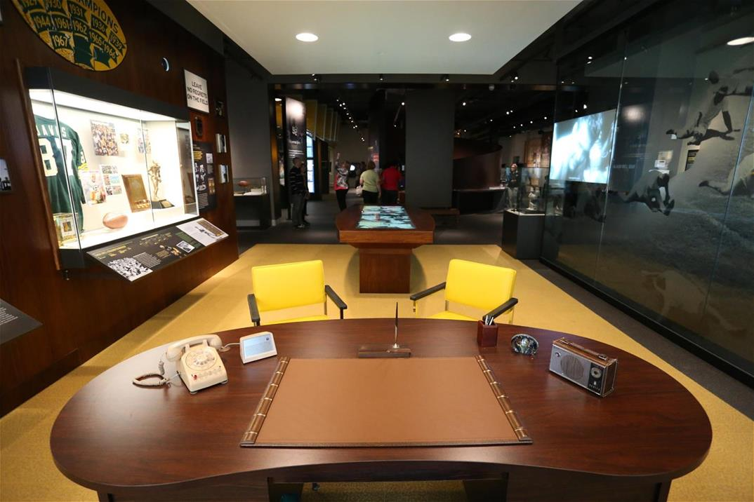 Image of the Lombardi's Office Exhibit in the Green Bay Packers Hall of Fame.
