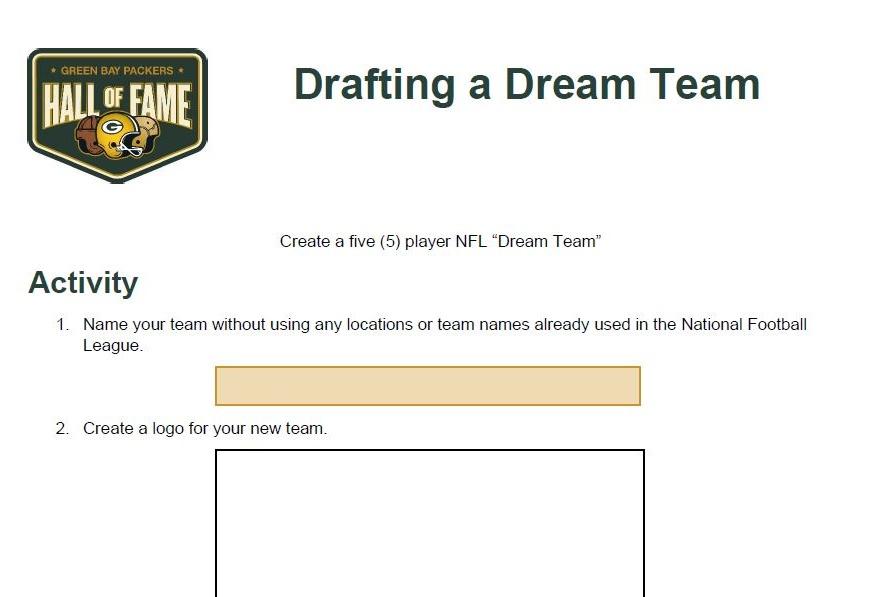 Drafting a Dream Team